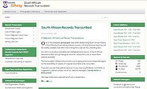 The South African Records web site