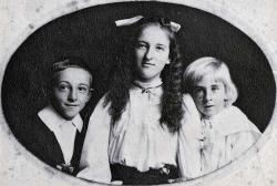 Millie with her two youngest brothers, about 1910.