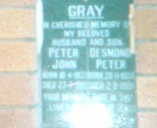 GRAY, Desmond Peter